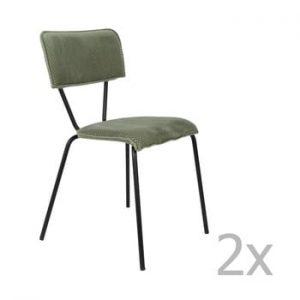 Set 2 scaune Dutchbone Melonie, verde
