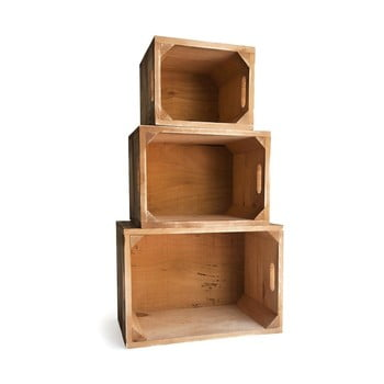 Set 3 cutii din lemn de pin Really Nice Things 1945