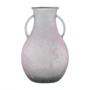 Vaza din sticla reciclata Mauro Ferretti Andora, ⌀ 32 cm, roz