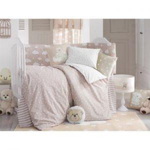 Lenjerie de pat cu cearceaf pentru copii Apolena Carino, 100 x 150 cm, roz deschis