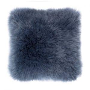 Perna Tiseco Home Studio Sheepskin, 45 x 45 cm, albastru