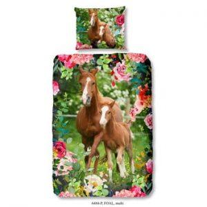Lenjerie de pat din bumbac pentru copii Good Morning Foal, 140 x 200 cm