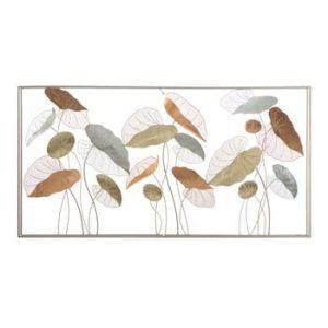 Decoratiune metalica pentru perete Mauro Ferretti Lotus, 134,5x68,5cm