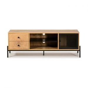 Comoda TV din lemn de pin Marckeric Andy, latime 144 cm, maro