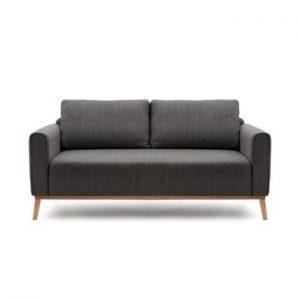 Canapea pentru 3 persoane Vivonita Milton, gri antracit