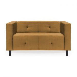 Canapea cu 2 locuri Vivonita Milo, maro - mustar