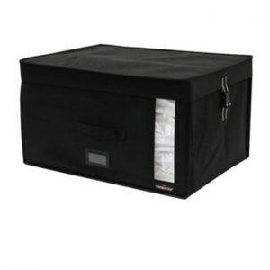 Cutie depozitare cu vacuum Compactor Infinity, capacitate 150 l, negru