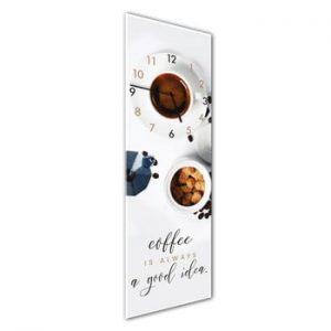 Ceas de perete Styler Glassclock Coffee Time, 20 x 60 cm