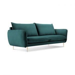 Canapea cu tapiterie din catifea Cosmopolitan Design Florence, verde petrol