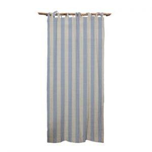 Draperie Linen Cuture Cortina Hogar Blue Stripes, albastru