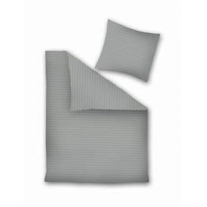 Lenjerie pentru pat dublu, din microfibrao DecoKing, 200 x 220 cm, gri