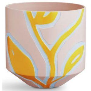 Ghiveci Kähler Design Fiora, roz-galben