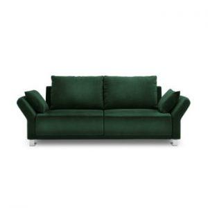 Canapea extensibila cu invelis de catifea cu 3 locuri Windsor & Co Sofas Pyxis, verde