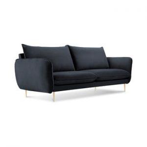 Canapea cu tapiterie din catifea Cosmopolitan Design Florence, gri antracit