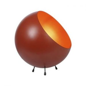 Veioza Leitmotiv Bell, rosu caramiziu-auriu