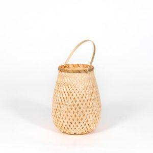 Felinar din bambus Compactor Bamboo Lantern, ⌀ 18 cm, natural