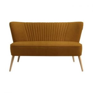 Canapea cu 2 locuri Custom Form Harry, galben mustar inchis