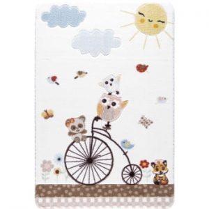 Covor pentru copii Confetti Sunny Day, 133 x 190 cm, alb