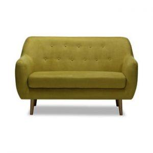 Canapea cu 2 locuri Vivonita Lila, galben mustar