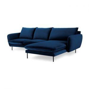 Coltar cu sezlong pe partea dreapta Cosmopolitan Design Vienna, albastru