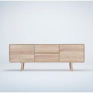 Comoda TV din lemn masiv de stejar Gazzda Fawn
