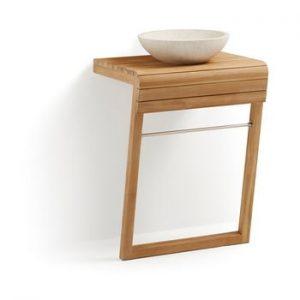 Dulap de baie din lemn de tec cu chiuveta La Forma, latime 60 cm