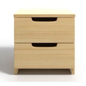 Noptiera din lemn de pin cu 2 sertare SKANDICA Spectrum