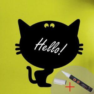 Set autocolante pentru tablita si markere Fanastick Cat