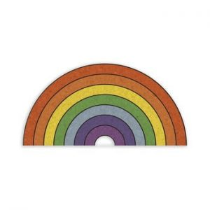 Avizier in forma de curcubeu Really Nice Things Rainbow, 70 x 50 cm