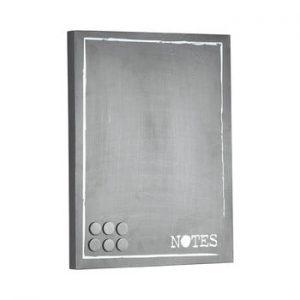 Placa metalica pentru mesaje LABEL51 Memo, gri
