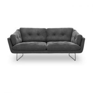 Canapea cu 3 locuri Windsor & Co Sofas Gravity, gri inchis