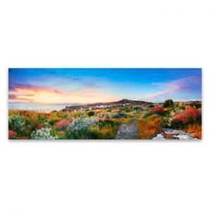 Tablou imprimat pe panza Styler Colorful Sea, 150 x 60 cm