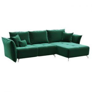 Canapea extensibila Hermes, sezlong convertibil, verde inchis