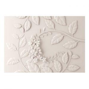 Tapet format mare Bimago Cream Paper Flowers, 400 x 280 cm