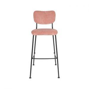 Set 2 scaune de bar Zuiver Benson, inaltime 102,2 cm, roz
