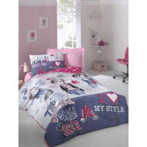 Lenjerie de pat cu cearsaf Patriona, 160 x 220 cm