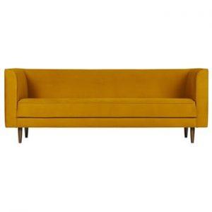 Canapea cu 3 locuri vtwonen Studio, galben ocru