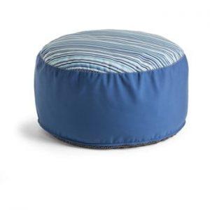 Puf La Forma Bleu Stripe, ⌀ 60 cm, albastru