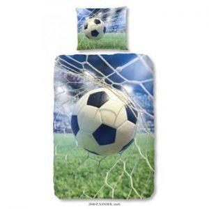 Lenjerie de pat din bumbac pentru copii Good Morning Football Game, 140x200 cm