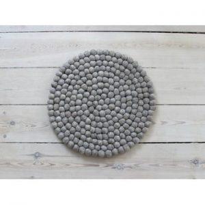 Perna pentru scaun, cu bile din lana Wooldot Ball Chair Pad, ⌀ 39 cm, maro nisip