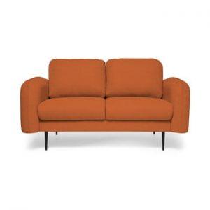 Canapea cu 2 locuri Vivonita Skolm, caramiziu