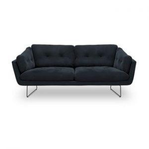 Canapea cu 3 locuri Windsor & Co Sofas Gravity, albastru inchis