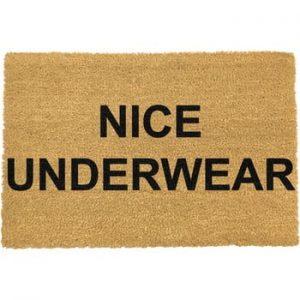 Covoras intrare din fibre de cocos Artsy Doormats Nice Underwear, 40 x 60 cm