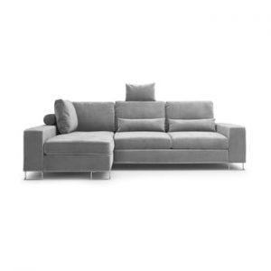 Coltar extensibil Windsor & Co Sofas Diane, pe partea stanga, gri