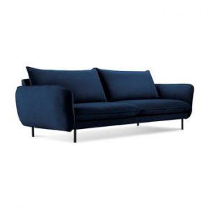 Canapea eleganta cu 3 locuri Cosmopolitan Design Vienna, albastru inchis