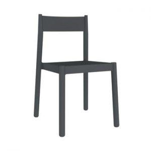 Set 4 scaune de gradina Resol Danna, gri inchis