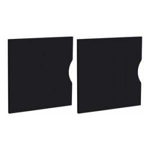 Set 2 usi pentru raft Støraa Kiera, 33 x 33 cm, negru