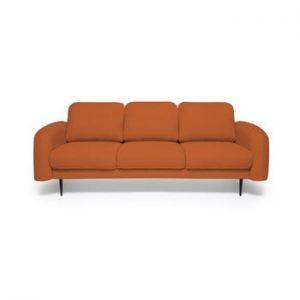 Canapea cu 3 locuri Vivonita Skolm, caramiziu