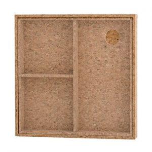 Cutie depozitare din pluta cu capac Bloomingville Nature Cork, 24 x 24 cm