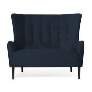 Canapea cu 2 locuri Vivonita Blair, albastru inchis